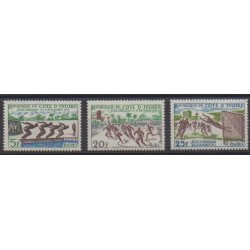 Ivory Coast - 1961 - Nb 201/203 - Various sports