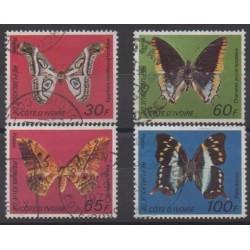 Côte d'Ivoire - 1977 - No 440A/440D - Insectes - Oblitérés