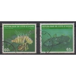 Côte d'Ivoire - 1979 - No 510A/510B - Vie marine - Oblitérés