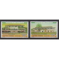 Ivory Coast - 1984 - Nb 689/690 - Architecture