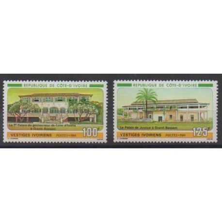 Côte d'Ivoire - 1984 - No 689/690 - Architecture