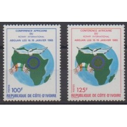 Côte d'Ivoire - 1985 - No 705/706 - Rotary ou Lions club