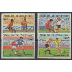 Ivory Coast - 1985 - Nb 721/724 - Soccer World Cup