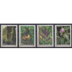 Ivory Coast - 1986 - Nb 756/759 - Flowers