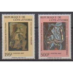 Ivory Coast - 1987 - Nb 793/794 - Paintings