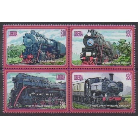 Liberia - 2004 - No 4195/4198 - Chemins de fer