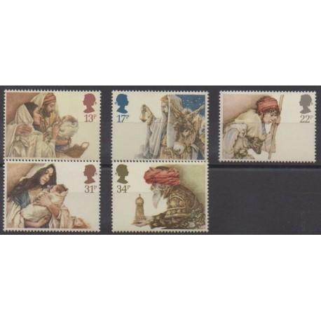 Grande-Bretagne - 1984 - No 1163/1167 - Noël
