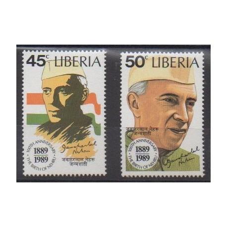 Liberia - 1989 - No 1135/1136 - Célébrités