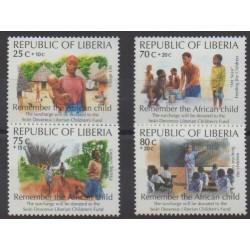 Liberia - 1994 - Nb 1257/1260 - Childhood