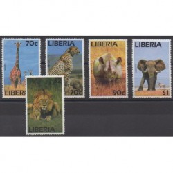 Liberia - 1995 - No 1282/1286 - Mammifères