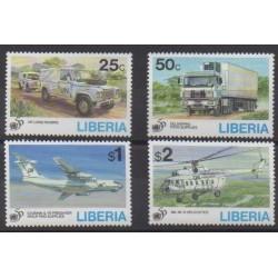 Liberia - 1995 - Nb 1295/1298 - Military history - Transport