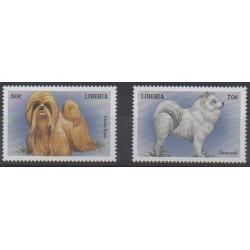 Liberia - 1999 - Nb 2035/2036 - Dogs
