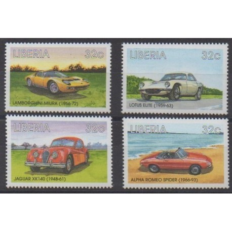 Liberia - 1998 - No 1856/1859 - Voitures