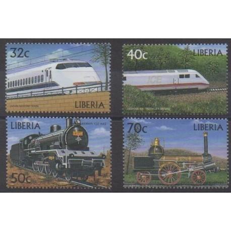 Liberia - 1999 - No 2013/2016 - Chemins de fer