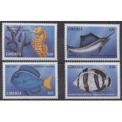 Liberia - 1999 - No 2272/2275 - Vie marine