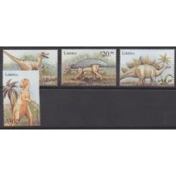 Liberia - 1999 - No 2169/2172 - Animaux préhistoriques