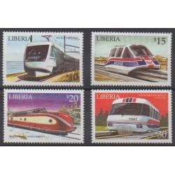 Liberia - 2001 - No 3167/3170 - Chemins de fer