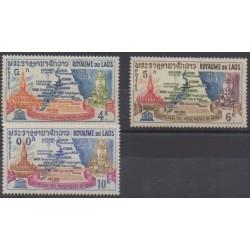 Laos - 1964 - Nb 94/96 - Monuments