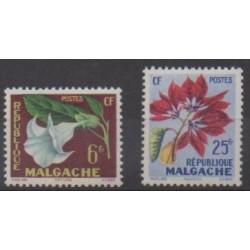 Madagascar - 1959 - Nb 336/337 - Flowers