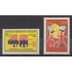 Madagascar - 1987 - No 794/795 - Histoire