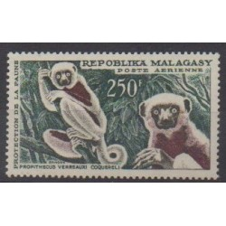 Madagascar - 1961 - Nb PA86 - Mamals - Endangered species - WWF