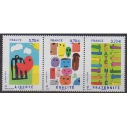 France - Poste - 2016 - Nb 5021/5023 - Children's drawings