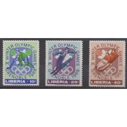 Liberia - 1967 - Nb 451/453 - Winter Olympics