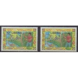 Liberia - 1988 - No 1087/1088 - Histoire
