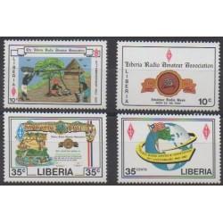 Liberia - 1987 - No 1055/1058 - Télécommunications