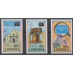 Liberia - 1986 - Nb 1032/1034 - Philately