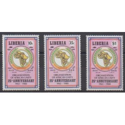 Liberia - 1988 - Nb 1091/1093 - Various Historics Themes