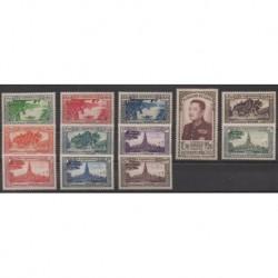 Laos - 1951 - Nb 1/12 - Mint hinged