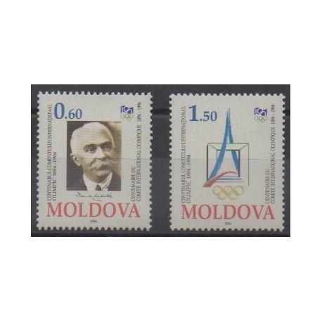 Moldavie - 1994 - No 112/113 - Jeux Olympiques d'été - Jeux olympiques d'hiver