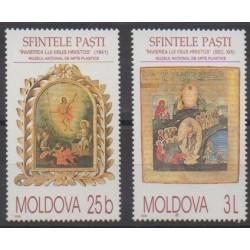 Moldova - 2000 - Nb 311/312 - Easter - Paintings