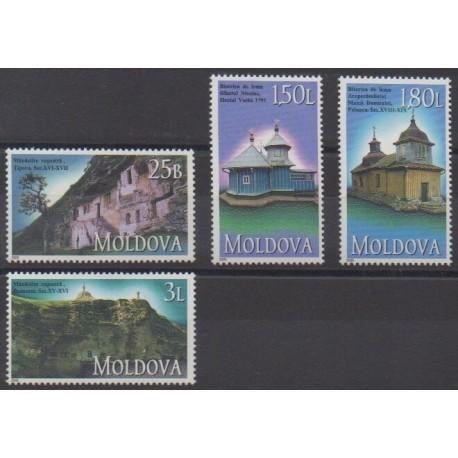 Moldavie - 2000 - No 316/319 - Églises