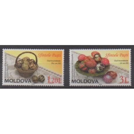 Moldavie - 2009 - No 562/563 - Pâques