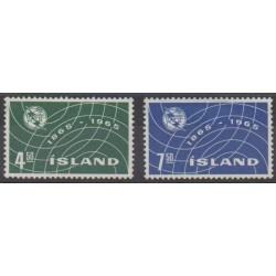 Islande - 1965 - No 345/346 - Télécommunications