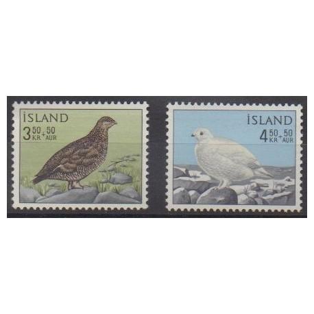 Islande - 1965 - No 343/344 - Oiseaux