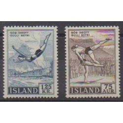 Iceland - 1955 - Nb 256/257 - Various sports