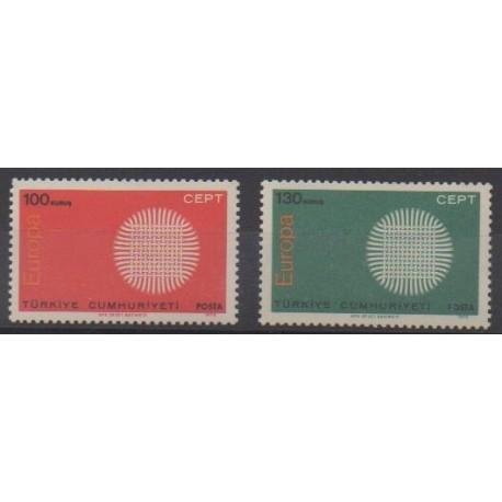 Turquie - 1970 - No 1952/1953 - Europa