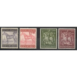 Allemagne - 1943- No 777/780 - Chevaux