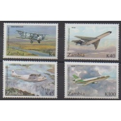Zambia - 1992 - Nb 562/565 - Planes