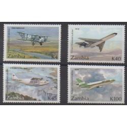 Zambie - 1992 - No 562/565 - Aviation