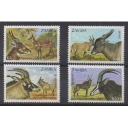 Zambie - 1992 - No 558/561 - Mammifères - Espèces menacées - WWF