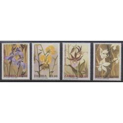 Zambie - 1992 - No 549/552 - Orchidées