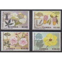 Zambia - 1991 - Nb 545/548 - Flowers