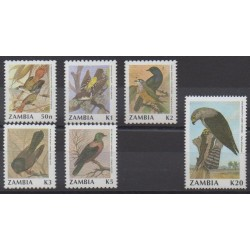 Zambie - 1991 - No 530/535 - Oiseaux