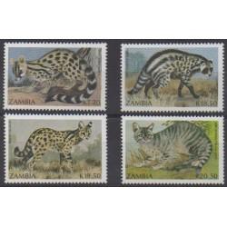 Zambia - 1990 - Nb 522/525 - Mamals