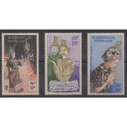 Laos - 1955 - Nb PA17/PA19