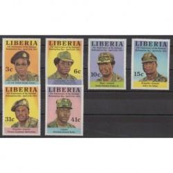 Liberia - 1983 - No 962/967 - Histoire militaire